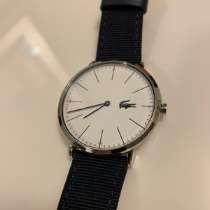 NWOT Lacoste Watch | Textile Over Leather Strap